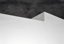 Bau 3, Tusche auf Papier, Collage, 100 x 70 cm, © David Kröswang