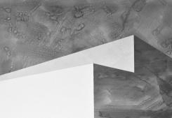 Bau 2, Tusche auf Papier, Collage, 100 x 70 cm, © David Kröswang