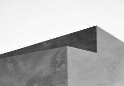 Bau, Tusche auf Papier, Collage, 100 x 70 cm, © David Kröswang