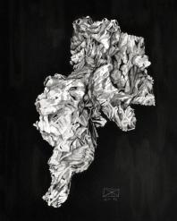 Knäuel, Tusche auf Papier, 40 x 50 cm, © David Kröswang