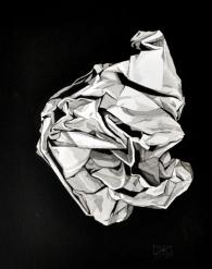 Knäuel 2, Tusche auf Papier, 40 x 50 cm, © David Kröswang