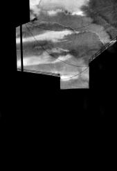Landschaft, Tusche auf Papier, 40 x 50 cm, © David Kröswang